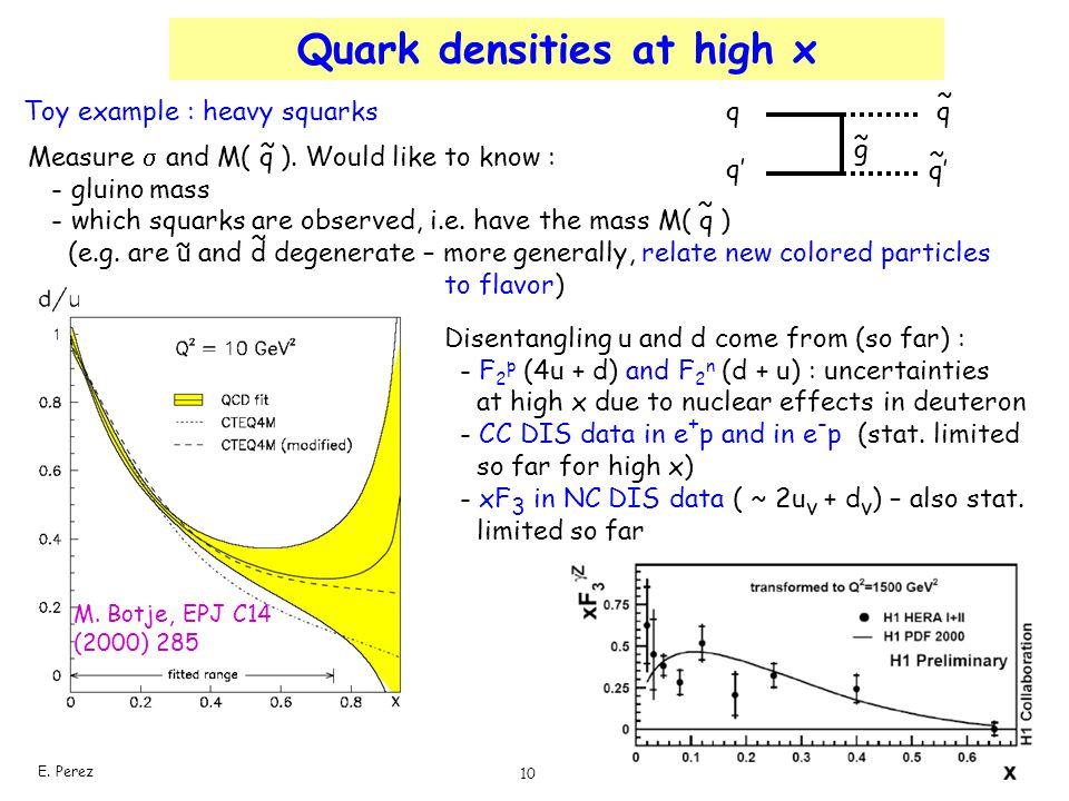 Quark densities at high x