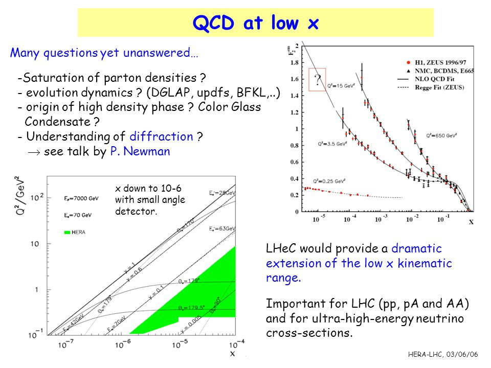 QCD at low x Many questions yet unanswered…
