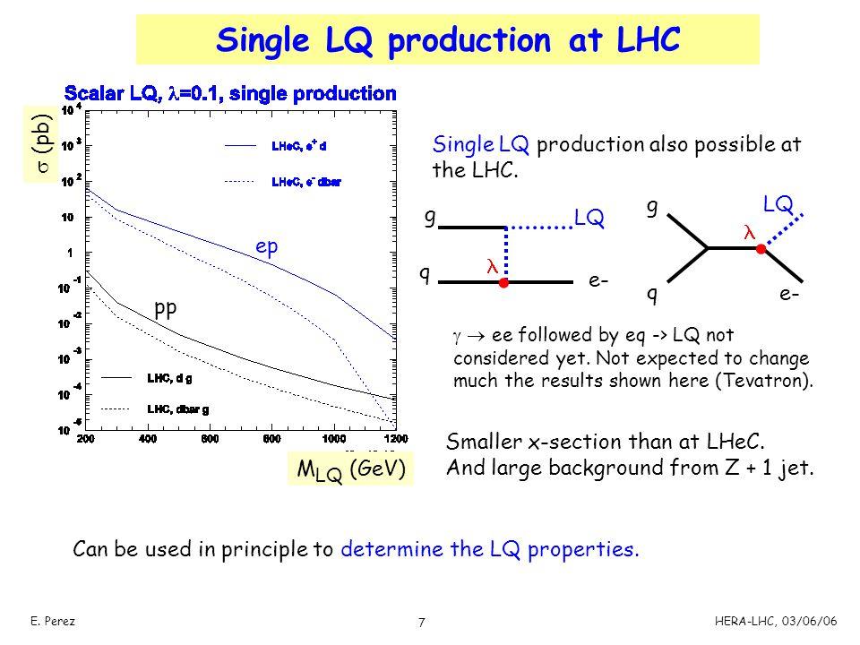 Single LQ production at LHC