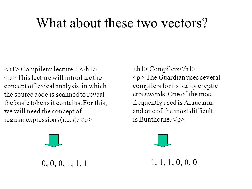 What about these two vectors