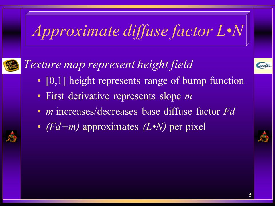 Approximate diffuse factor L•N