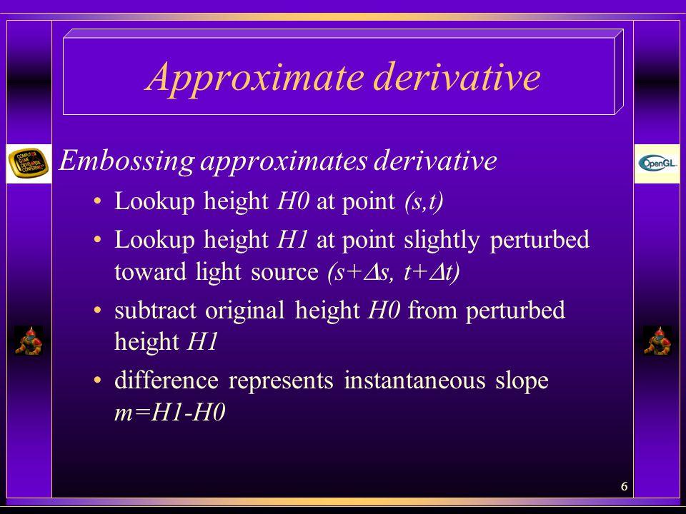 Approximate derivative