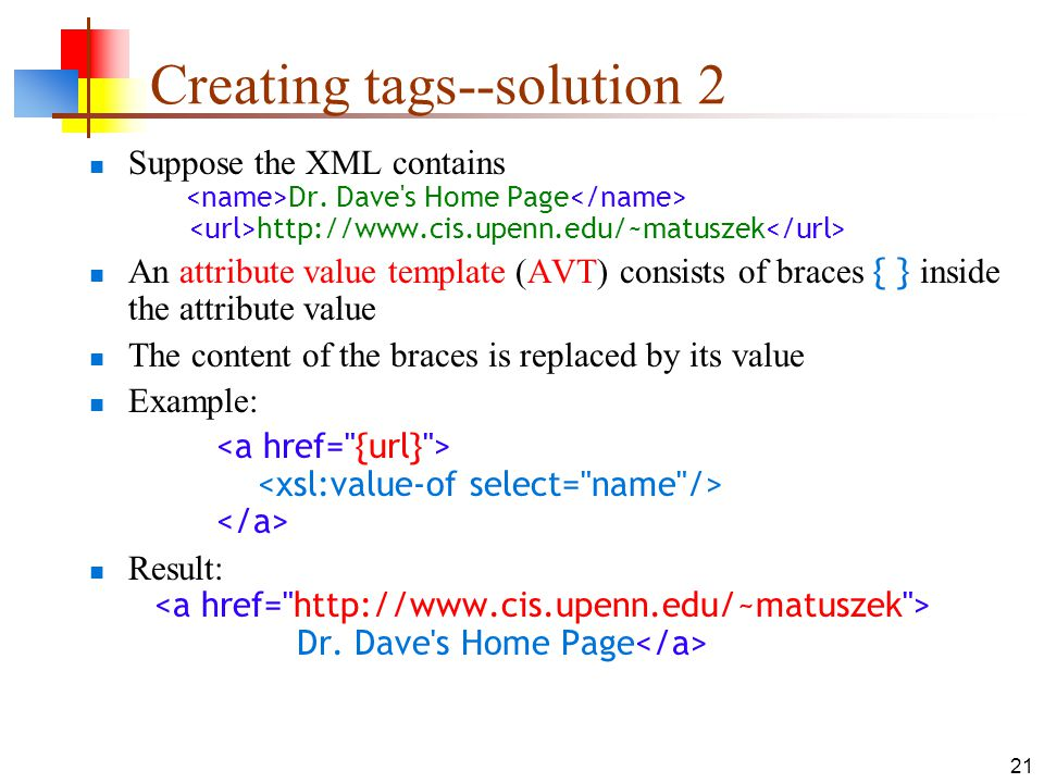 Creating tags--solution 2