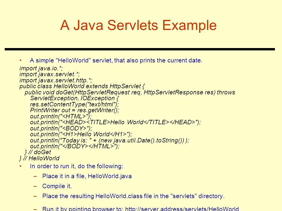 A Java Servlets Example