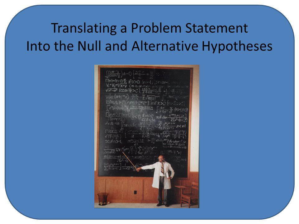 Translating a Problem Statement Into the Null and Alternative Hypotheses