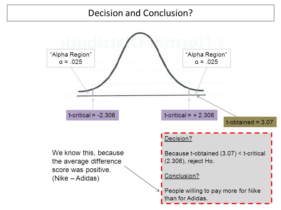 Decision and Conclusion