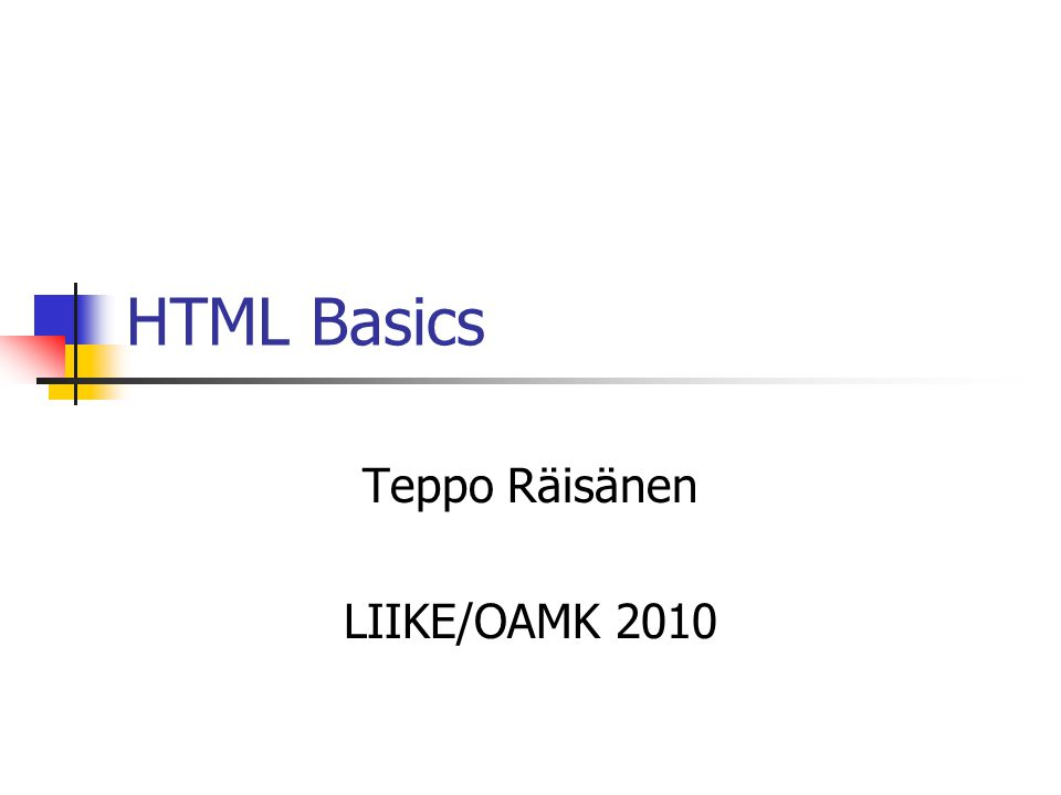 Teppo Räisänen LIIKE/OAMK 2010