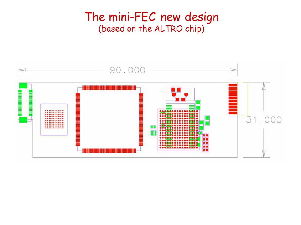 The mini-FEC new design (based on the ALTRO chip)