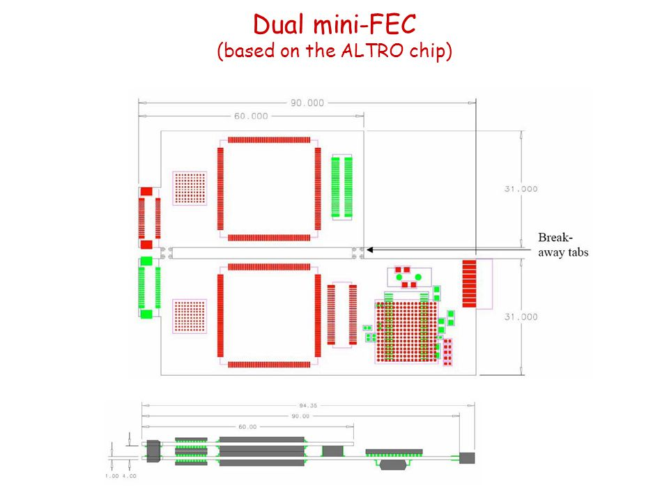 Dual mini-FEC (based on the ALTRO chip)