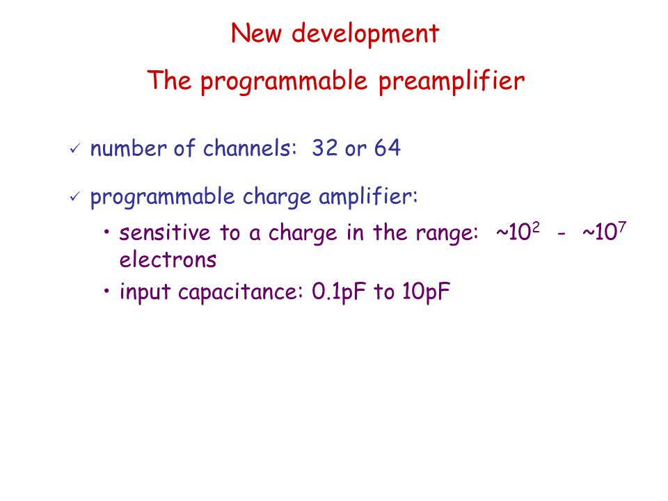 The programmable preamplifier
