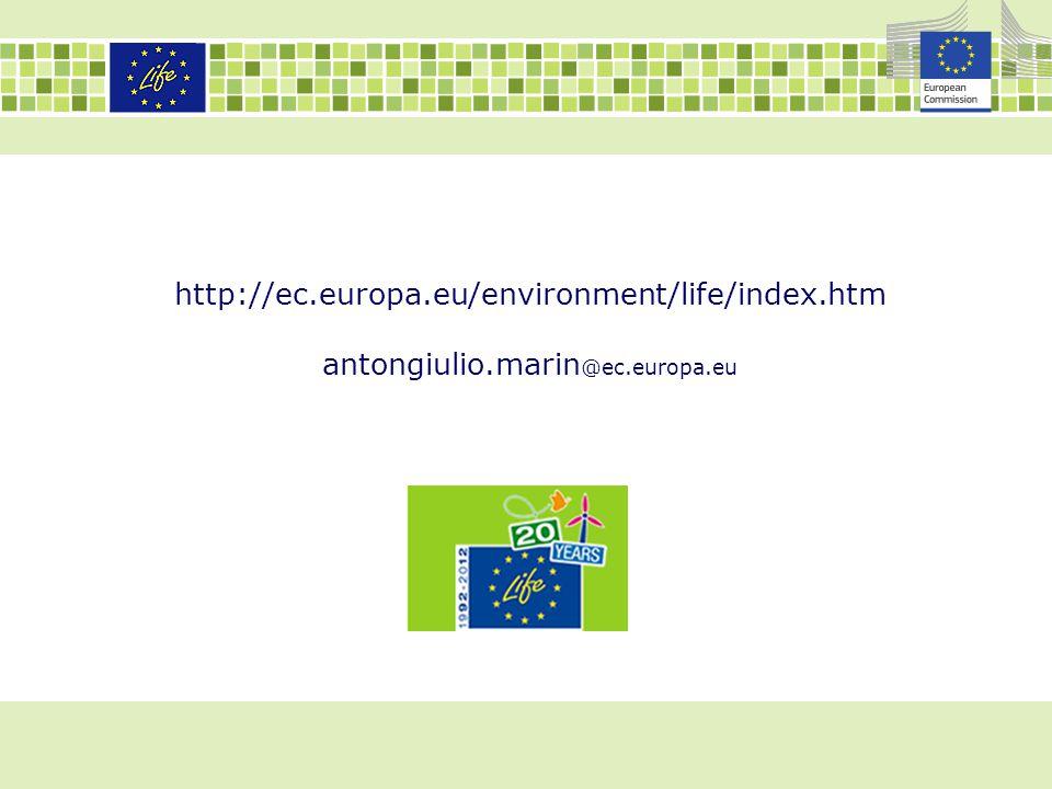 http://ec.europa.eu/environment/life/index.htm antongiulio.marin@ec.europa.eu