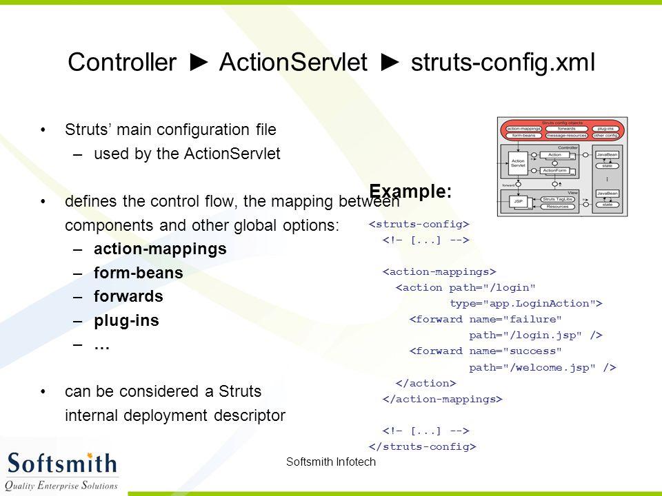 Controller ► ActionServlet ► struts-config.xml