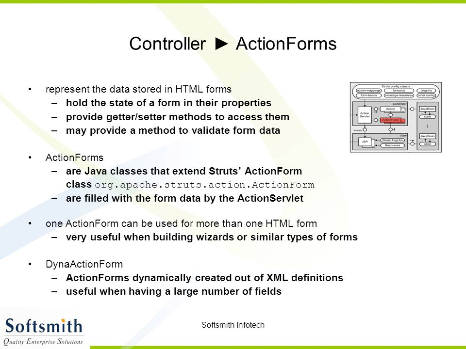 Controller ► ActionForms
