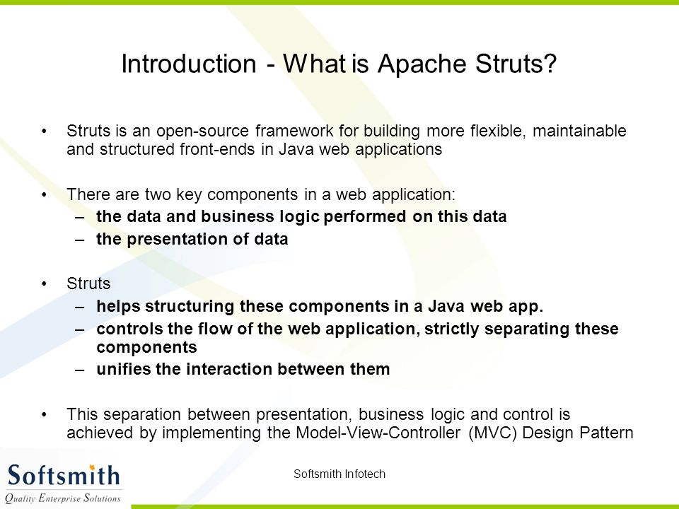 Introduction - What is Apache Struts