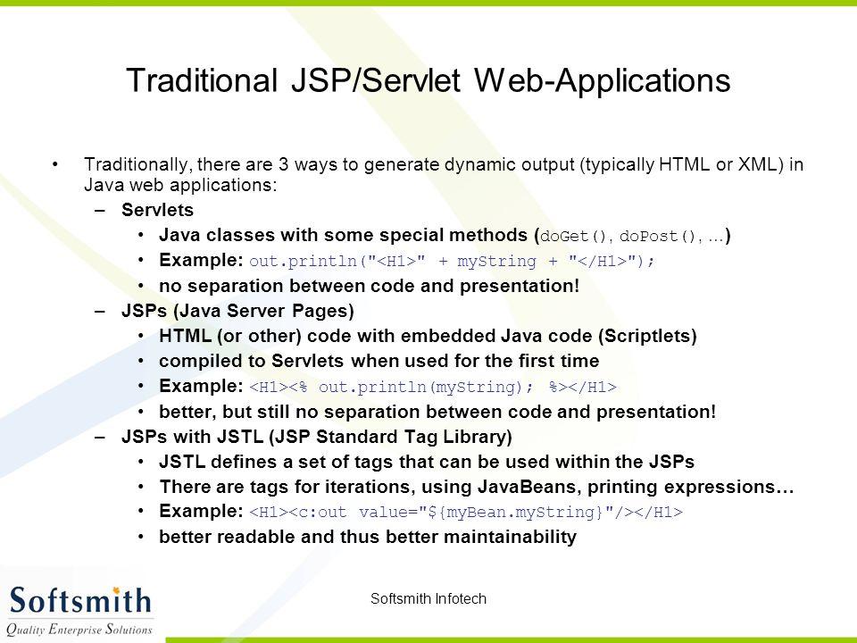 Traditional JSP/Servlet Web-Applications