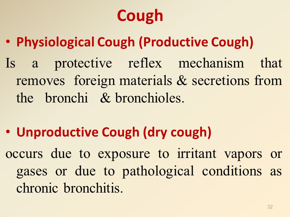 Cough Physiological Cough (Productive Cough)