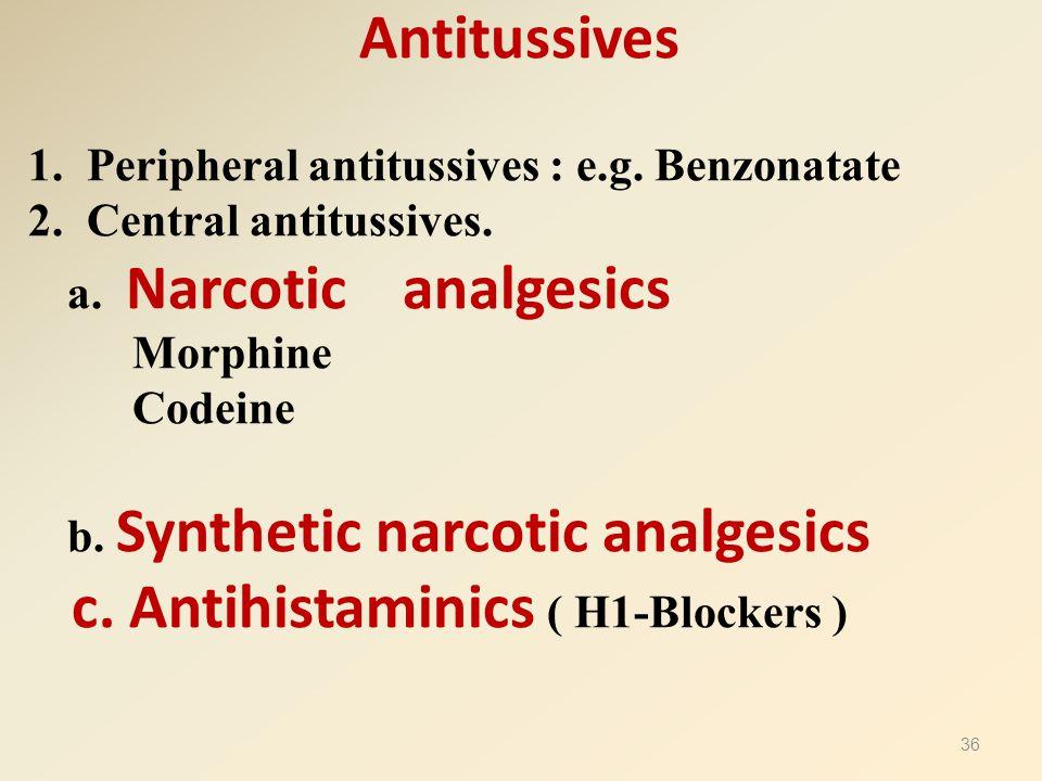 c. Antihistaminics ( H1-Blockers )