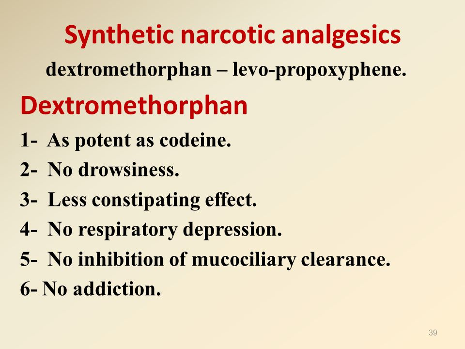 Synthetic narcotic analgesics