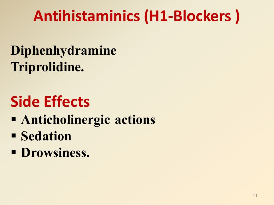Antihistaminics (H1-Blockers )