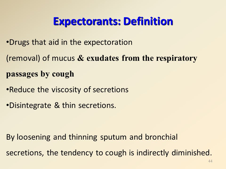 Expectorants: Definition