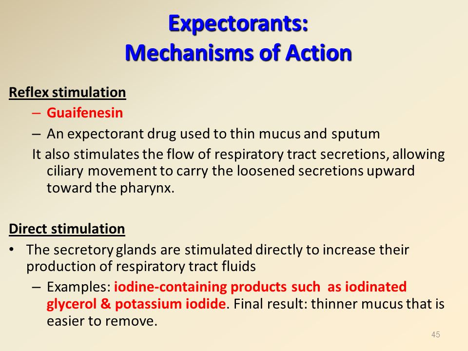 Expectorants: Mechanisms of Action