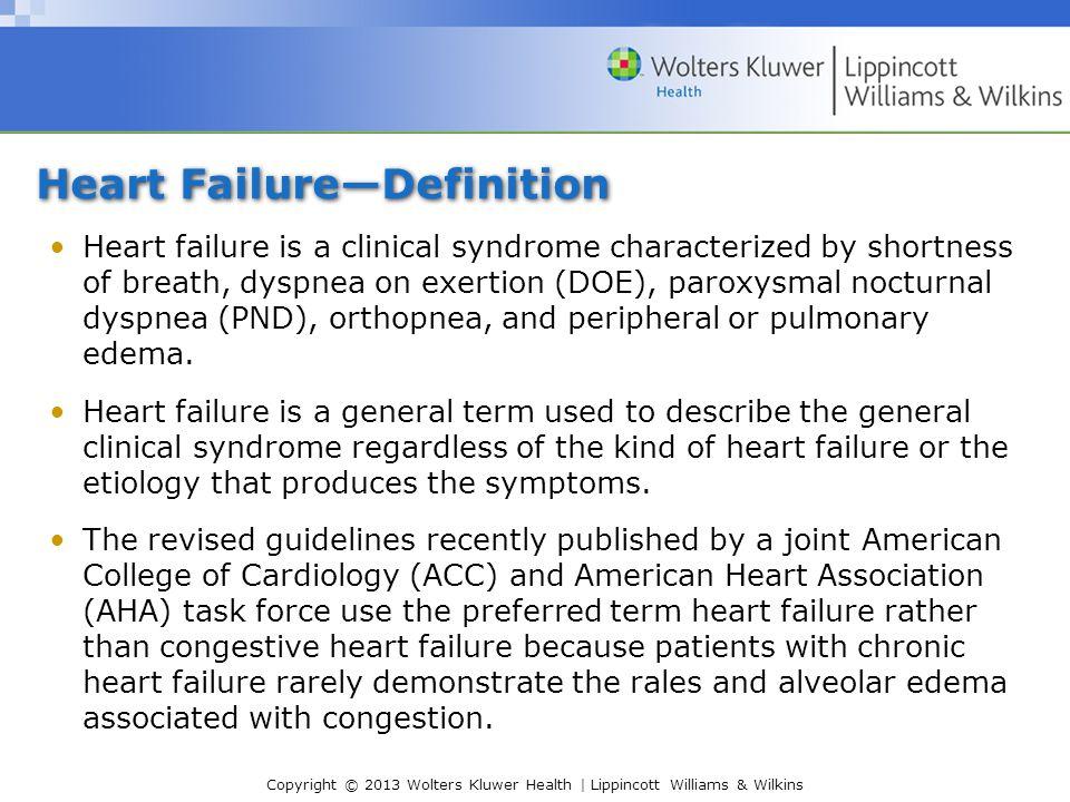 Heart Failure—Definition