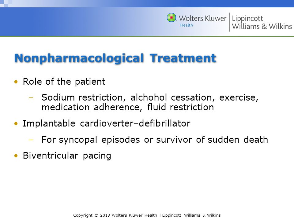Nonpharmacological Treatment