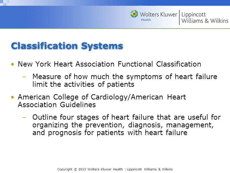 new york heart association functional classification pdf