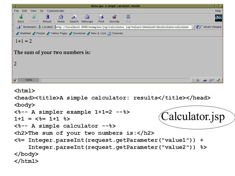 Calculator.jsp <html>