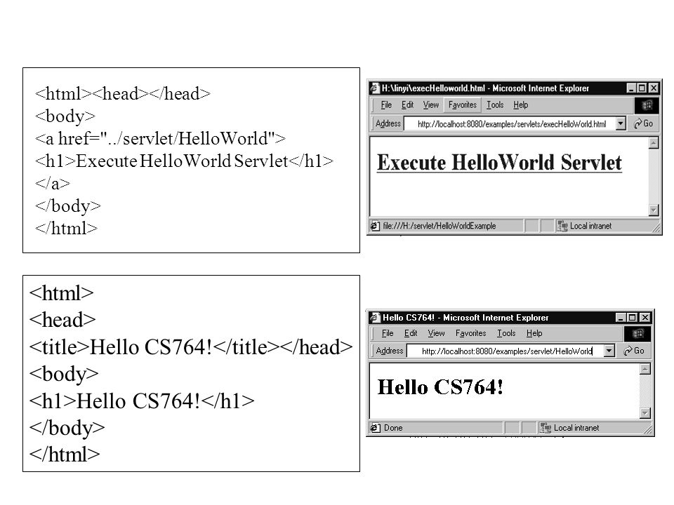 <title>Hello CS764!</title></head> <body>
