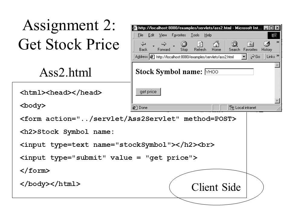 Assignment 2: Get Stock Price