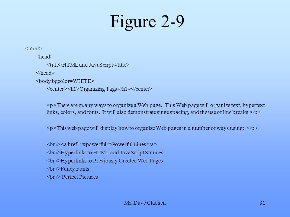 Figure 2-9 <html> <head>