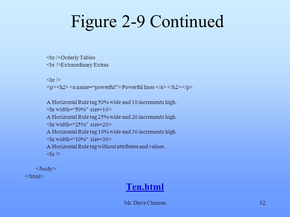Figure 2-9 Continued Ten.html <br />Orderly Tables