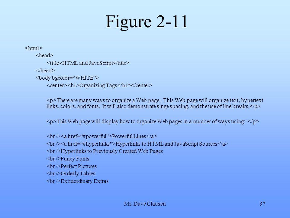 Figure 2-11 <html> <head>