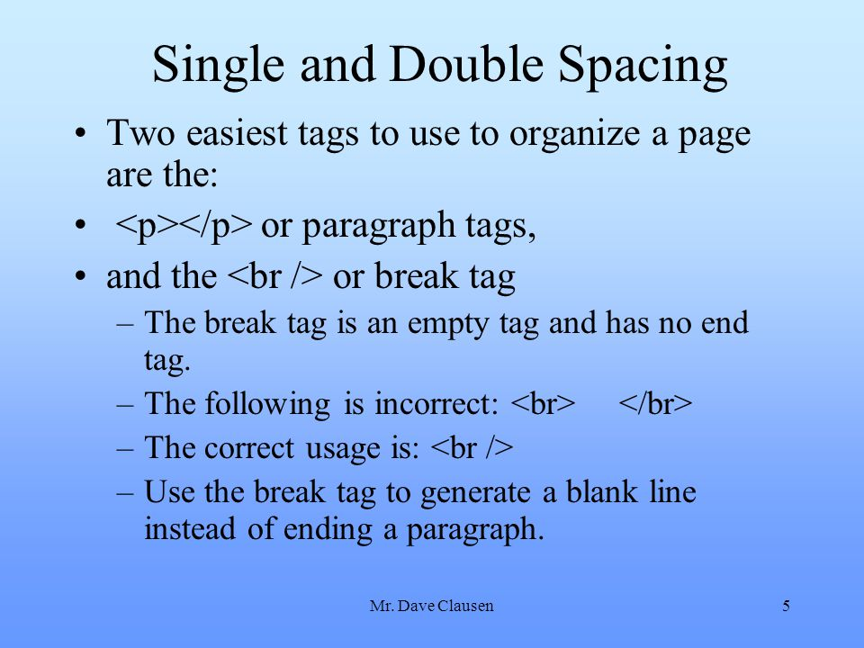 Single and Double Spacing