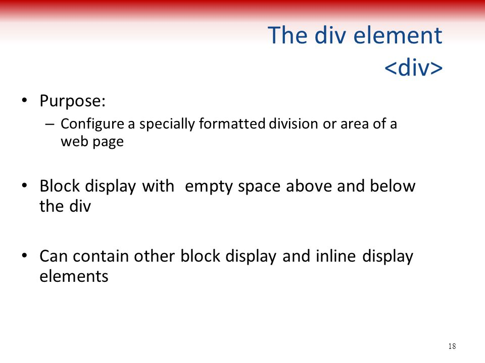 The div element <div>