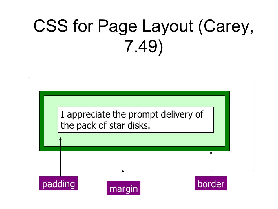 CSS for Page Layout (Carey, 7.49)