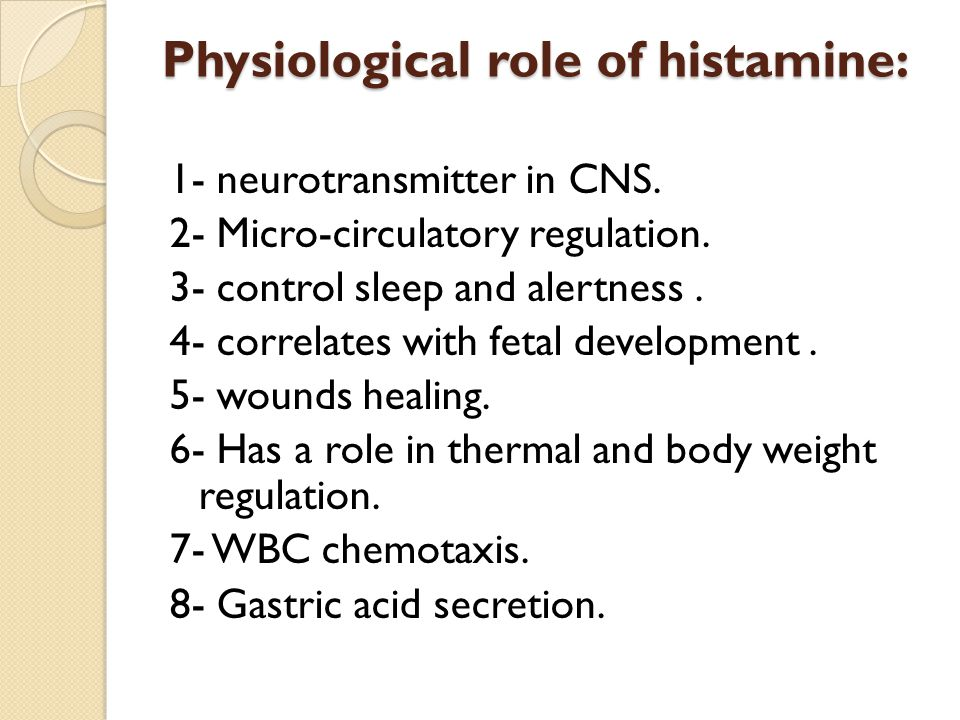 Physiological role of histamine: