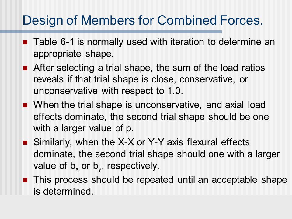 Design of Members for Combined Forces.