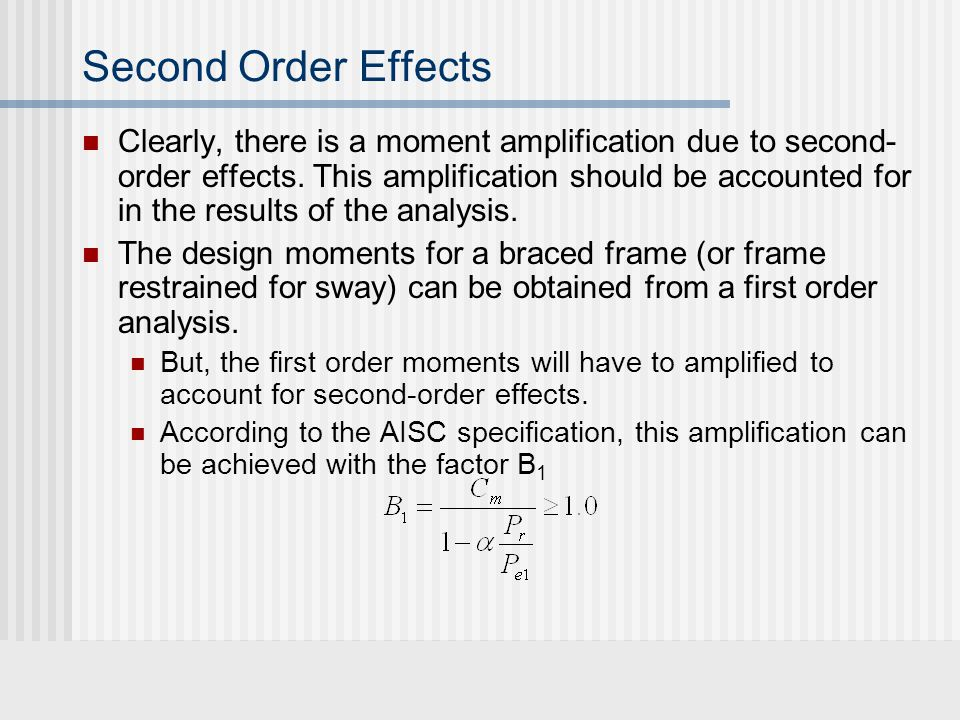 Second Order Effects