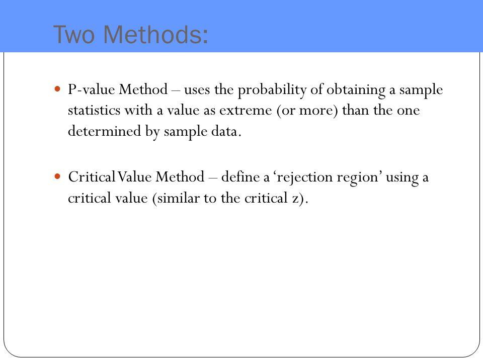 Two Methods: