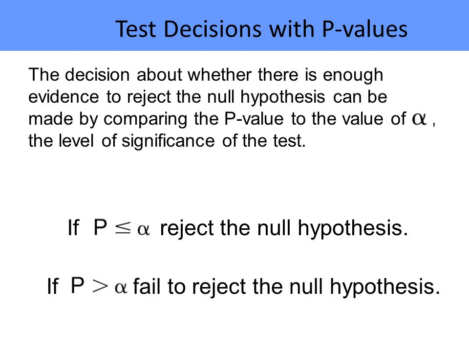 Test Decisions with P-values