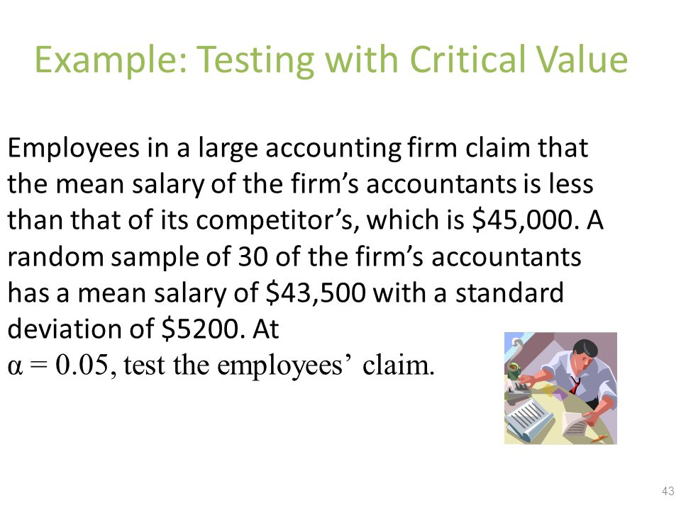 Example: Testing with Critical Value