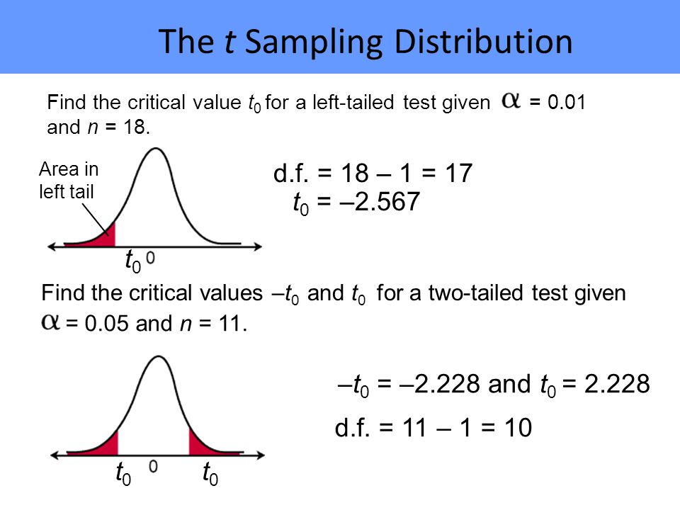 The t Sampling Distribution