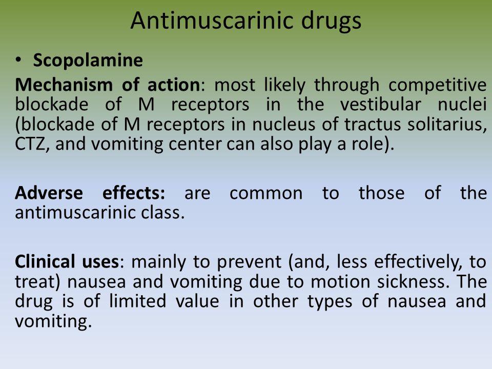Antimuscarinic drugs Scopolamine