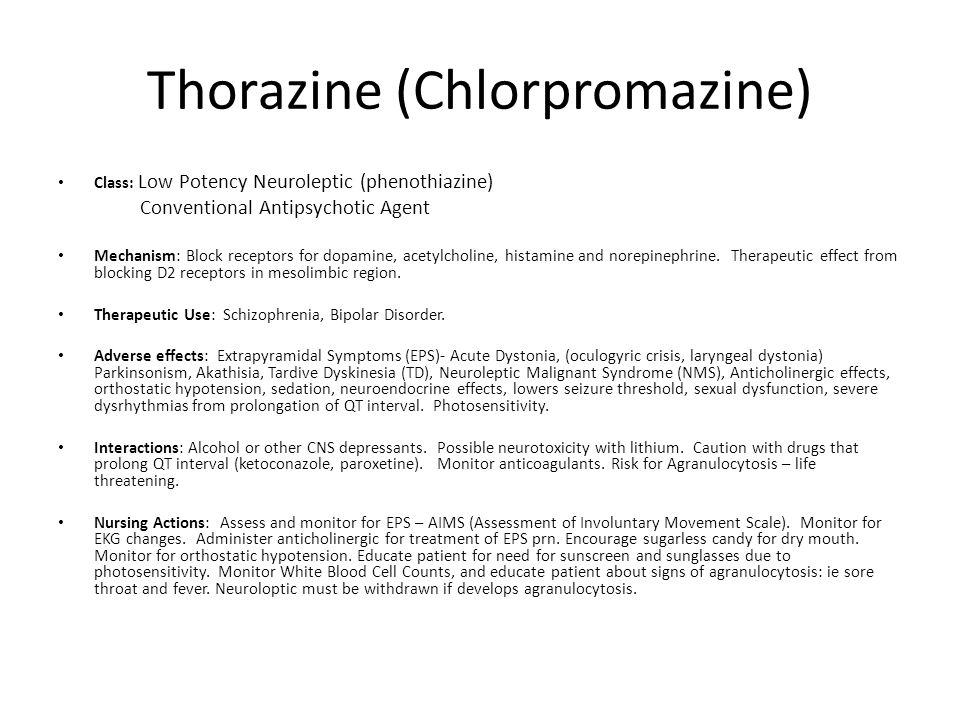 Thorazine (Chlorpromazine)