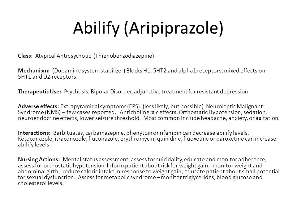 Abilify (Aripiprazole)