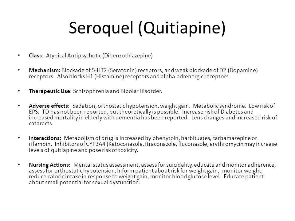 Seroquel (Quitiapine)