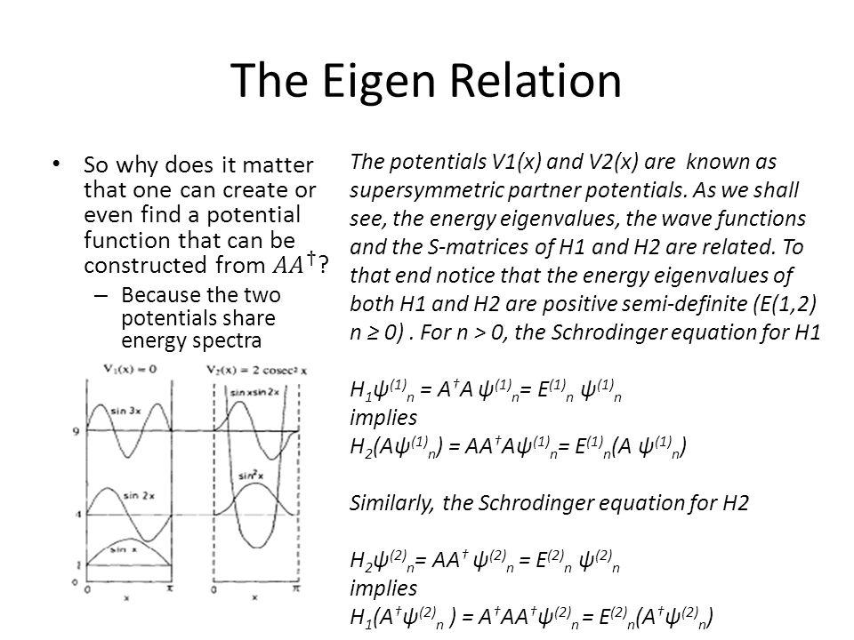 The Eigen Relation