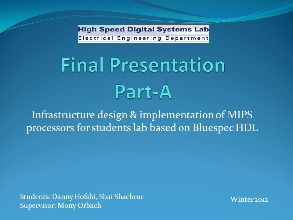 Final Presentation Part-A